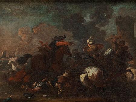 Jacques Courtois, genannt Borgognone , 1621 Saint-Hippolyte – 1676 Rom, zug.