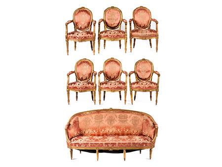 Große Louis XVI-Sitzgruppe