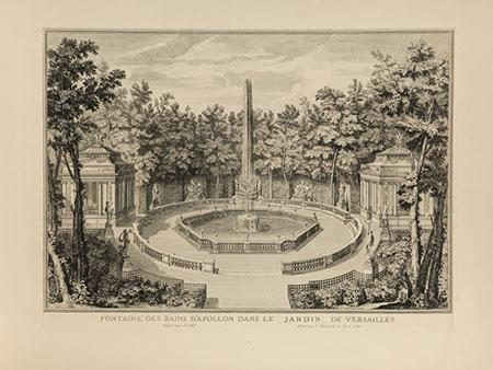 Kupferstich mit der Apollo-Fontaine im Garten von Versaille