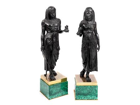 Paar ägyptische Skulpturen im Empire-Stil
