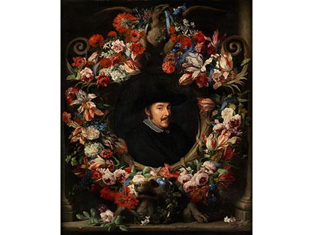 Abraham Brueghel, 1601 – 1671 und Jacob van Oost, 1631 – 1690