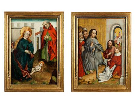 Paar Altartafeln des 15. Jahrhunderts