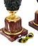 Detail images: Paar prächtige Bronzevasen als Leuchter