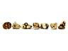 Detail images: Sammlung von sieben Netsuke in Elfenbein