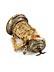 Detail images: Elfenbeinhumpen mit Silbermontierung