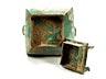 Detail images: Bronzegefäß mit Deckel