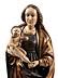 Detail images: Große Schnitzfigur einer Madonna mit dem Kind