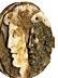 Detail images: Musealer Relief-Tondo in mehrfarbigen Onyx