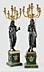 Detail images: Paar figürliche Bronzekandelaber im Empire-Stil