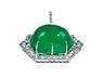 Detail images: Smaragd-Brillant-Broschanhänger von David Webb