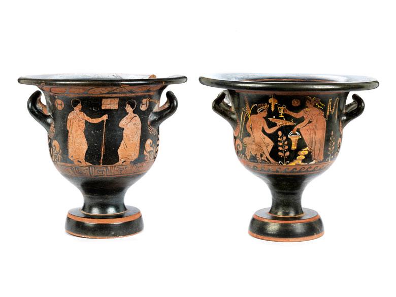 Zwei apulische Glockenkrater