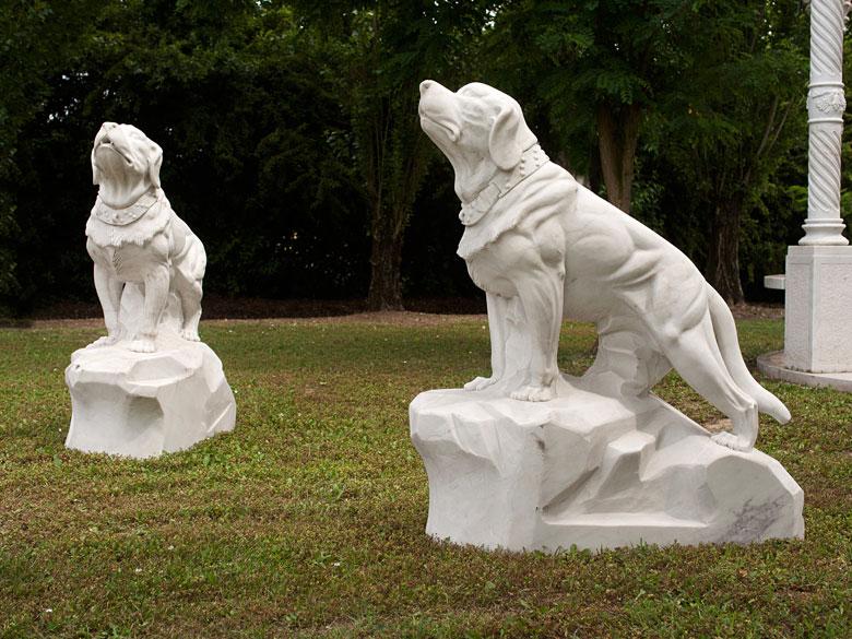 Paar Parkfiguren