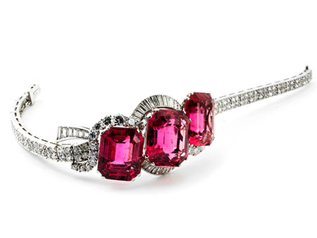 Detail images:  Turmalin-Diamantarmband von René Kern