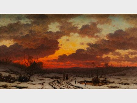 Ludwig Munthe, 1841 Aaro (Sundal) – 1896 Düsseldorf, norwegischer Landschaftsmaler