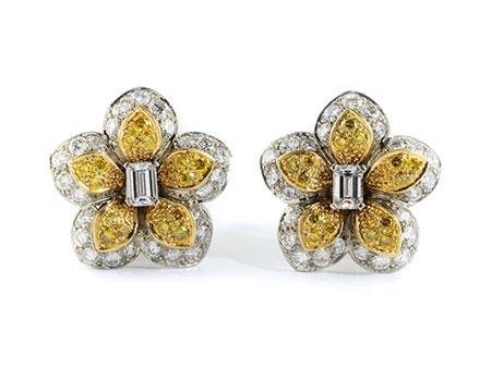 Detail images:  Diamant-Blütenohrringe von Van Cleef & Arpels