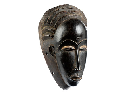 Afrikanische Maske des Stammes Abron, Elfenbeinküste