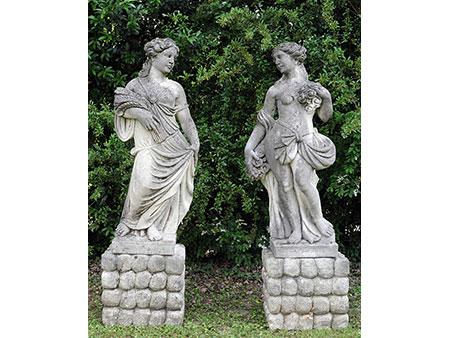 Paar Gartenfiguren