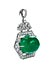 Detailabbildung: Smaragd-Brillant-Broschanhänger von David Webb