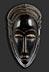 Detail images: Afrikanische Maske des Stammes Abron, Elfenbeinküste
