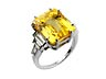 Detail images: Gelber Saphir-Diamantring