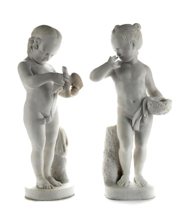 Paar amoristische Skulpturen