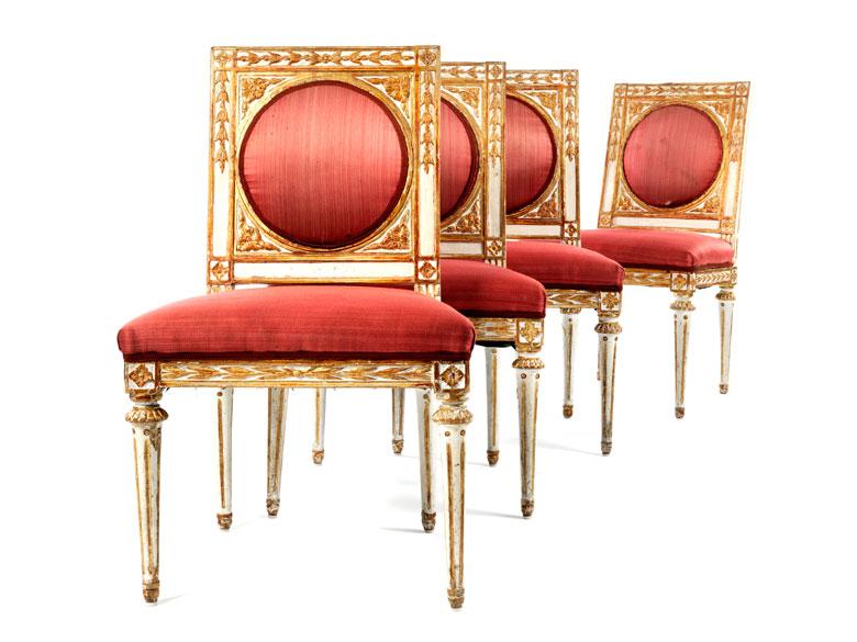 Vier prächtige Louis XVI-Stühle