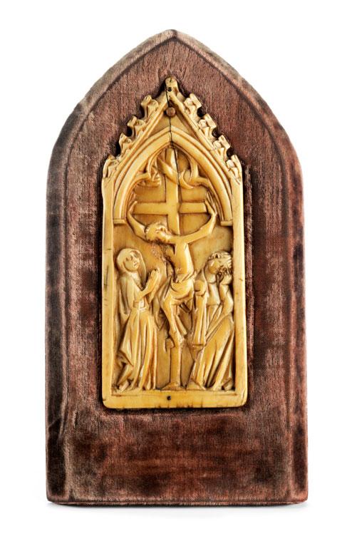 Pax bzw. Teil eines Diptychons mit Kreuzigung Christi