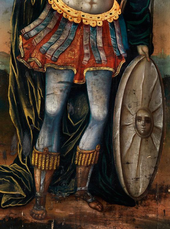Detailabbildung: Orthodoxe Ikone des Heiligen Demetrios von Saloniki
