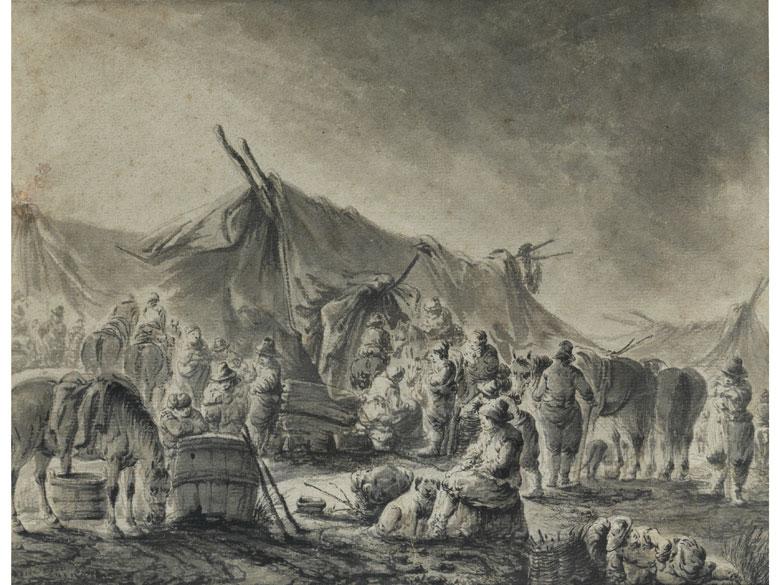 Pieter Bout, 1658 – 1719, zug.