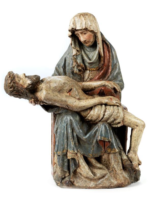 Gotische Pietà-Schnitzfigurengruppe