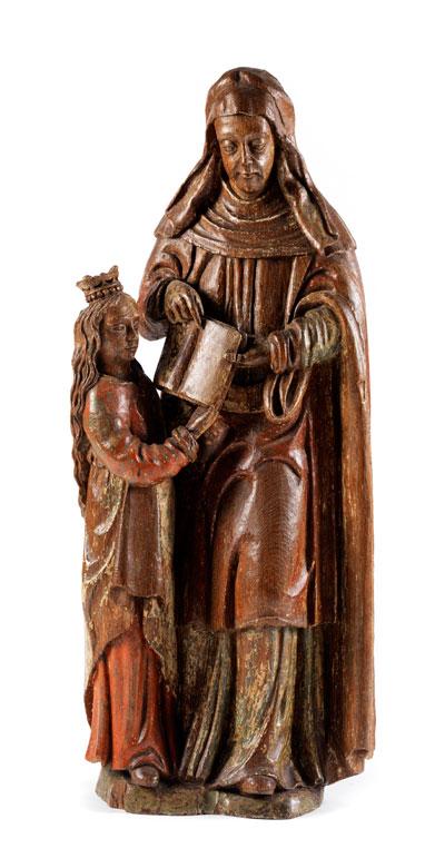 Figurengruppe der Heiligen Anna mit der jugendlichen Maria