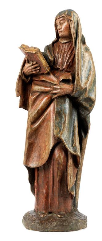 Schnitzfigur einer Heiligen