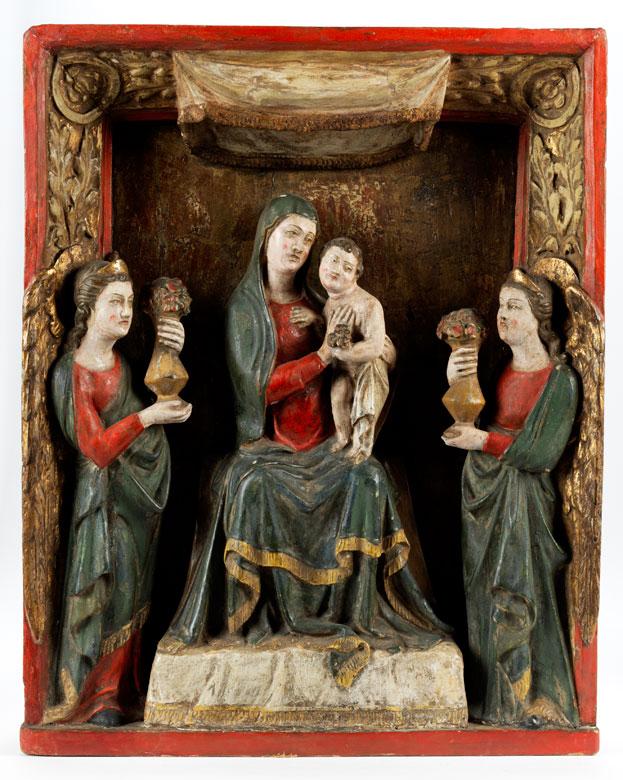 Schnitzgruppe Maria mit dem Kind