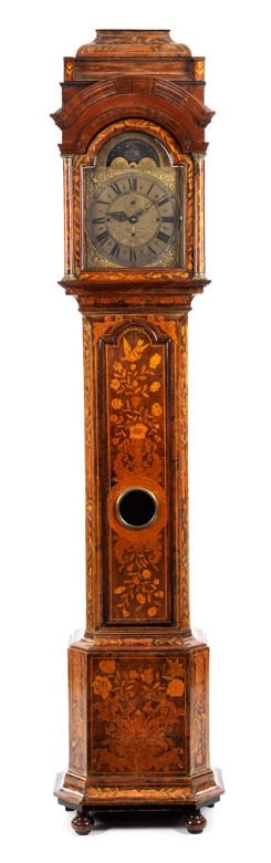 Barock-Standuhr mit Spielwerk und Mondphase