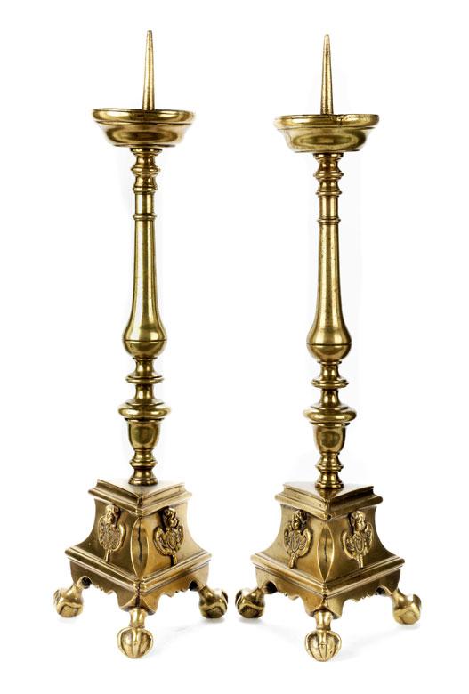 Paar Altarmessingleuchter