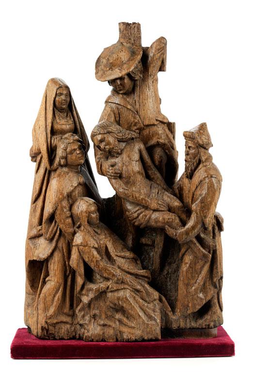 Schnitzfigurengruppe Kreuzabnahme Christi