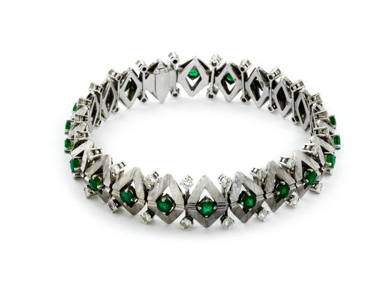 Smaragd-Diamantarmband