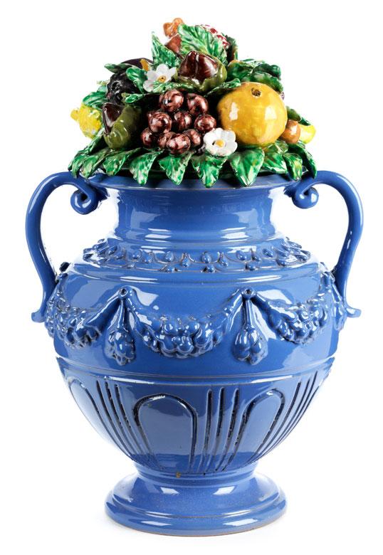Vase mit fruktalem Gesteck nach Giovanni della Robbia (1469 – 1529)