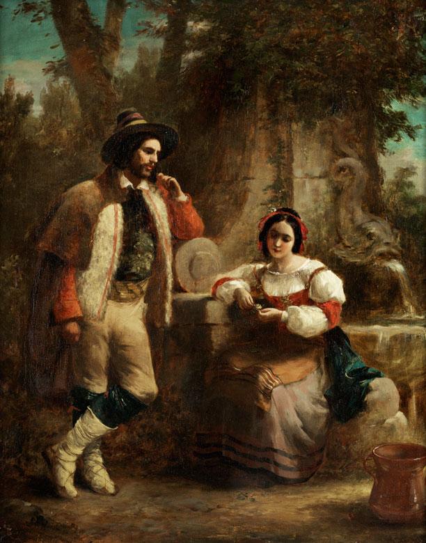 David Wilckie, 1785 Cults – 1841 bei Malta Der englische Künstler lebte von 1825 bis 1828 in Italien.