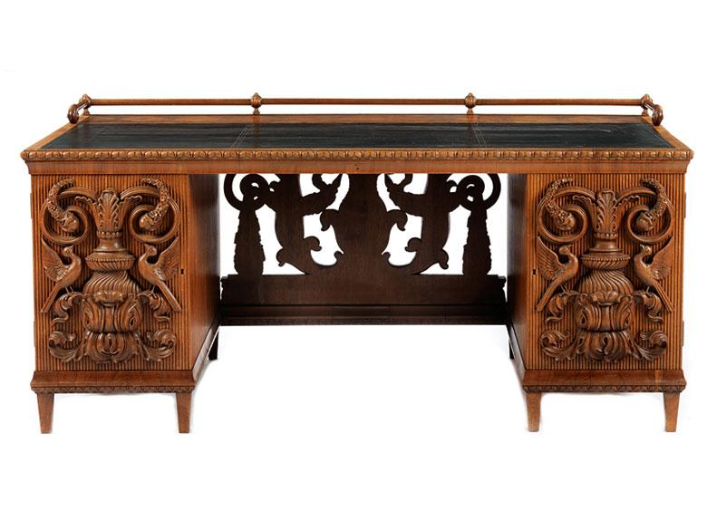 Großer Schreibtisch von Paul Ludwig Troost aus dem Zimmer des Herrn in Haus Chillingworth in Nürnberg