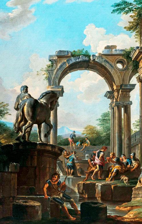 Detailabbildung: Giovanni Paolo Panini, 1691 Piacenza – 1765 Rom