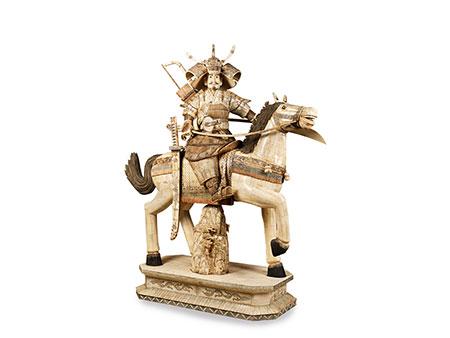 Große Reiterfigur