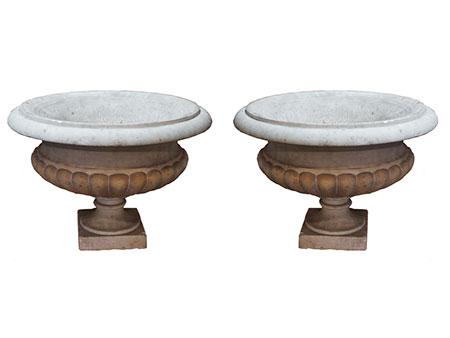 Paar Marmorvasen