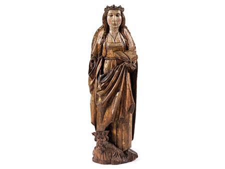 Figur einer weiblichen Heiligen