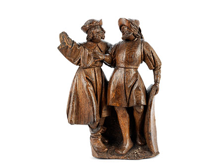 Zwei Figuren aus einem Kalvarienberg