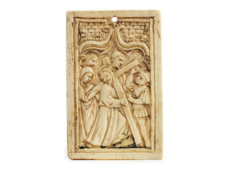 Relief Kreuztragung Christi