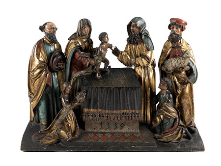 Große spätgotische Schnitzfigurengruppe