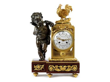 Pariser Uhr mit Putto