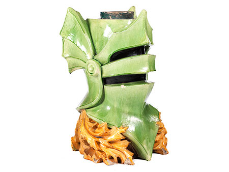 Keramiksäulenbasis in Helmform