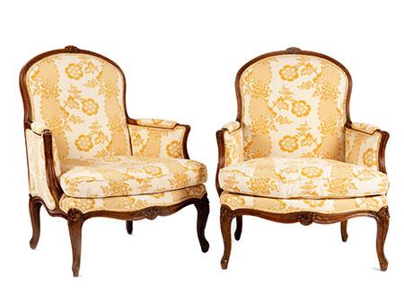 Paar Louis XV-Bergèren